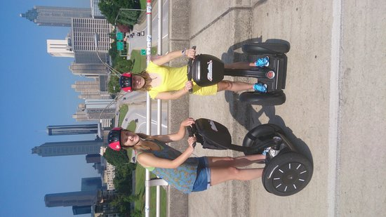 ATL-Cruzers Electric Car & Segway Tours : On the bridge