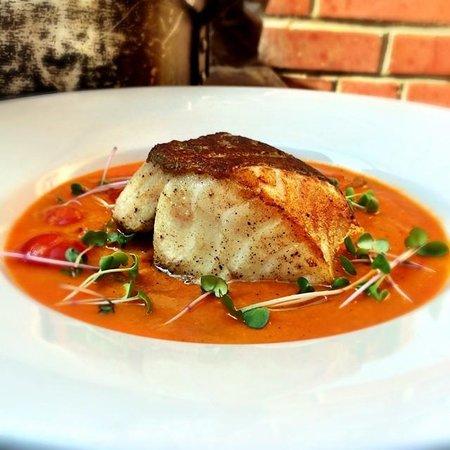 Culina Millcreek: Icelandic Cod Moqueca: Stewed Red Pepper & Coconut broth