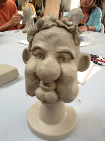 The Sculpture Workshop : One of 5 I produced over the 2 hours.