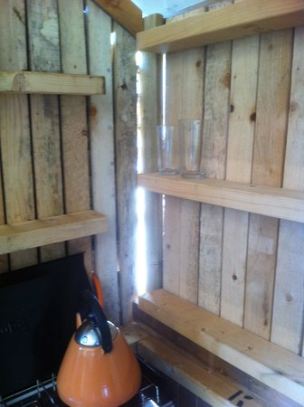 Norfolk Glamping & Yurt Holidays: One of the walls of the shack.