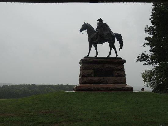 Valley Forge National Historical Park : Only equestrian statue in the park.  Genl Wayne looking to Waynesville