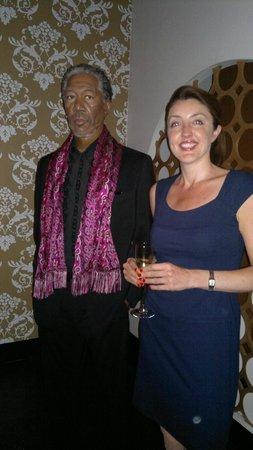 Madame Tussauds London: me and morgan!!
