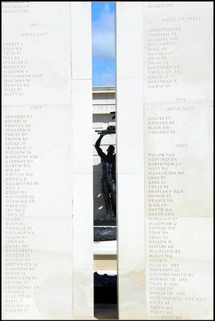 National Memorial Arboretum: Through this slit, at the eleventh hour, on the 11th day of the 11th month, a shaft of light fal