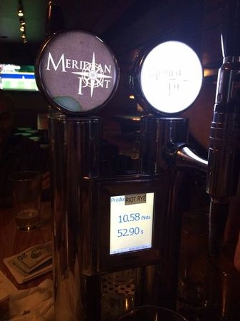 Meridian Pint: tap in the middle of your table