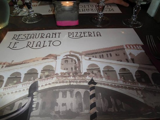 le rialto : La table