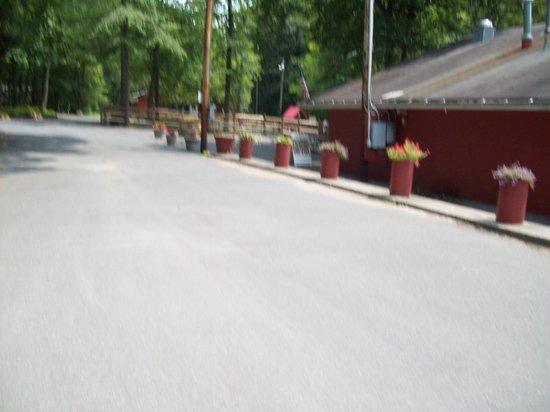 PA Dutch Country RV Resort: Main road to pool and store