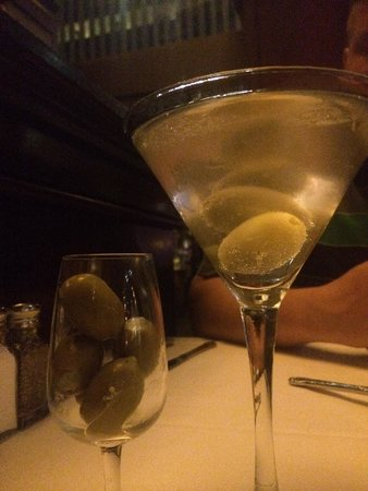 Del Frisco's Double Eagle Steak House: Professional Martini-extra hand stuffed blue cheese olives! Yummmmmm