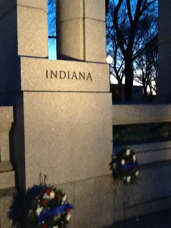 National World War II Memorial : Indiana monument at WW II Memorial