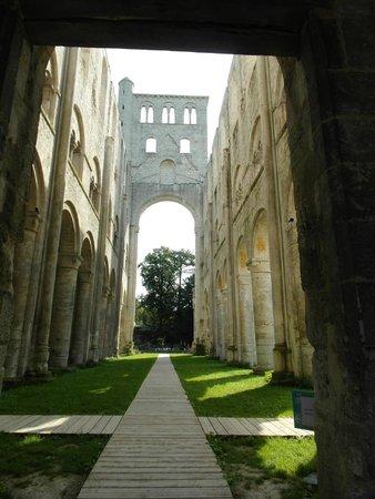 Abbaye de Jumieges: La navata vista dal coro