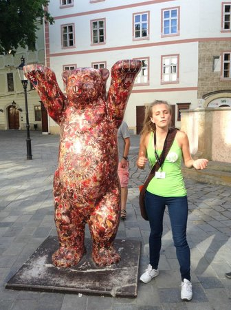 Bratislava Old Town: Excellent tour guide during a free walking tour of many parts of the old and new city. It was gr