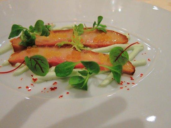 Residenz Heinz Winkler: sturgeon with coriander cress & Wasabi