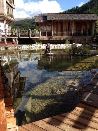 Wellness Hotel Fanes: laghetto vicino la piscina