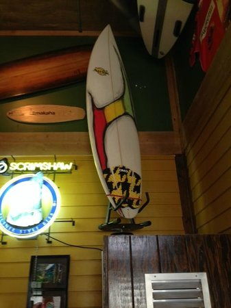 The Shwack Beach Grill: Any place with a rotating surf board has GOT to be Cool ..And this place is !