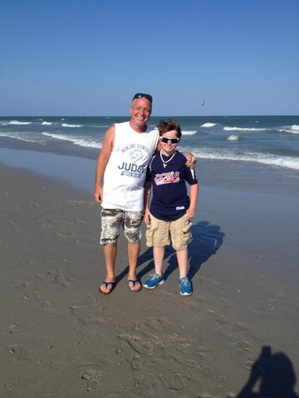 Ocean Lakes Family Campground : Tim & Austin at OL on vacation.