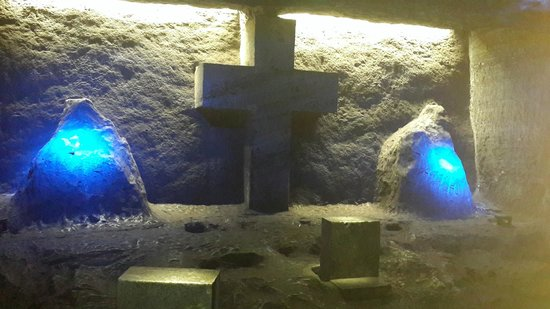 Cathédrale de sel de Zipaquirá : One of the beautiful lighted alcoves
