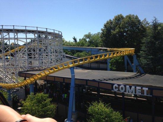 """Hersheypark : """"The Comet"""" - great wooden roller coaster."""