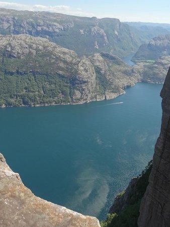 Lysefjord: Вид сверху на фьорд