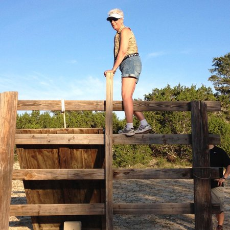 Rancho Cortez : obstacle course - didn't think I could do it!