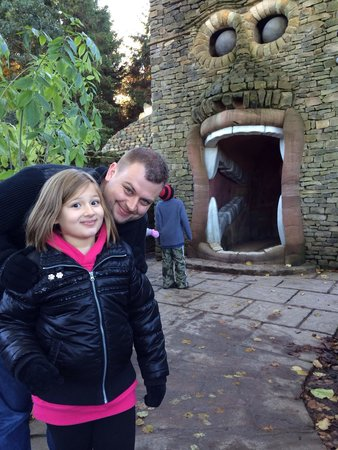 The Forbidden Corner: Little bob not so sure :) (photo from our visit early this year)