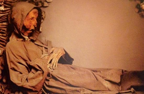 Museum and Crypt of Capuchins : one of monks (pic from book)
