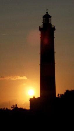 Le phare de chassiron au coucher du soleil
