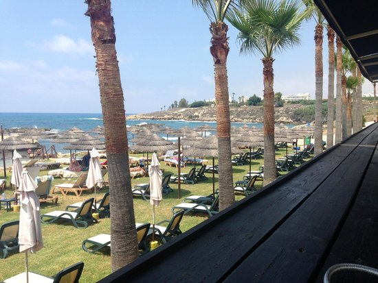 Vardas Beach: view from the terrace