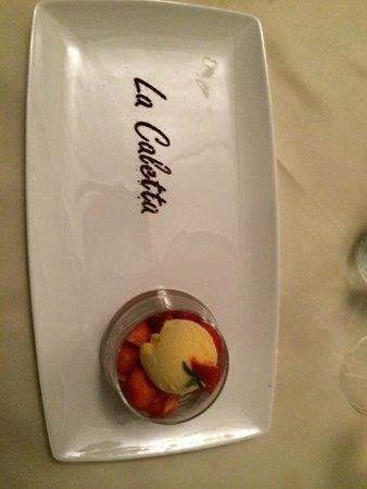 Ristorante La Caletta : Il dessert.