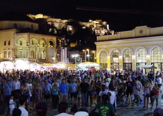 Monastiraki: Drummers and Dancers on the Square