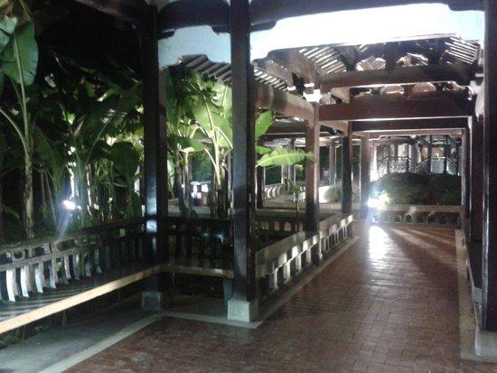 Jiangxin Island : Cool walkway with benches