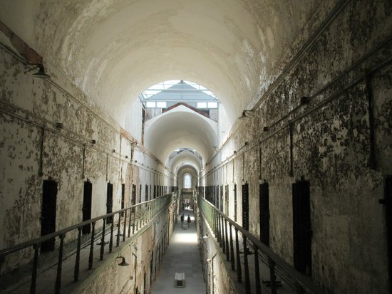 Eastern State Penitentiary : one of the cell blocks
