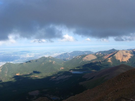 Pikes Peak Cog Railway: from the top