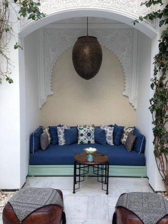 Riad Idra: courtyard