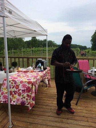 Simon Creek Vineyard & Winery: Cooking on Simon Creek Winery