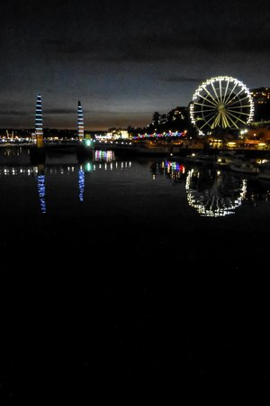 English Riviera Wheel: The wheel at night, viewed from the harbour