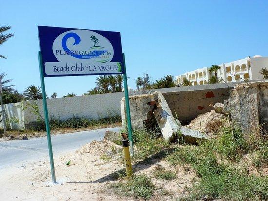 Green Palm : Accès à la plage