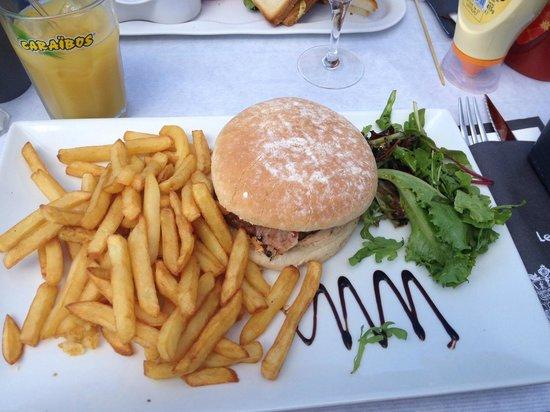 Le Golfy : Burger au bacon.