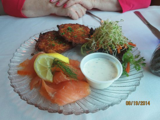 Old German Schnitzel Haus: Overcooked Potato Cakes