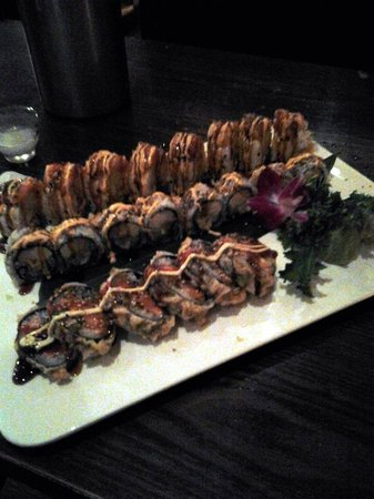 Kumo's Japanese Steakhouse and Sushi: 3 different kinds of sushi
