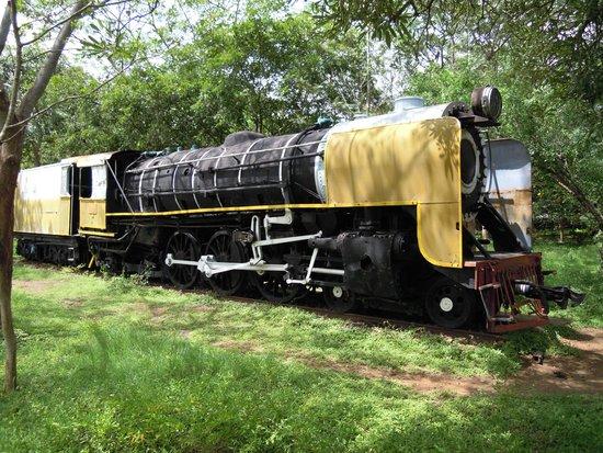 Railway Museum Mysore: Old steam locomotive made by TISCO