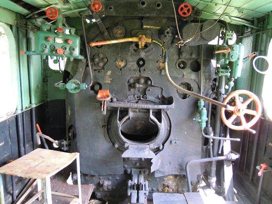 Railway Museum Mysore: Inside Old steam locomotive