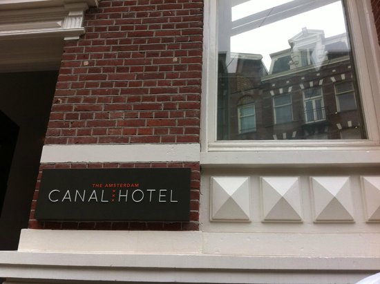 The Amsterdam Canal Hotel: the window