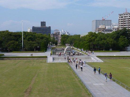 Hiroshima Peace Memorial Park: View of the Peace Memorial Park from the Peace Memorial Museum