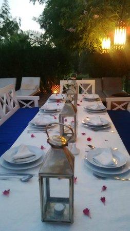 Villa vanille - dîner aux chandelles