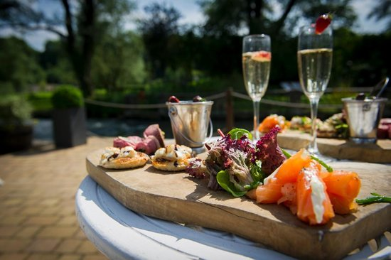Old Swan & Minster Mill: Canapes on the River Terrace