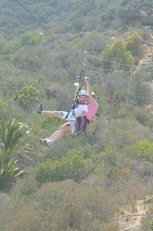 Catalina Island Company: My son and I tandem ziplining