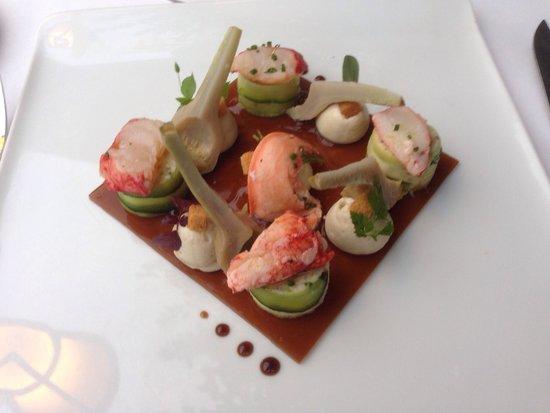 Baumanière les Baux de Provence : Homard et crabe