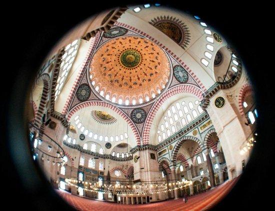 Mezquita de Suleiman o Mezquita de Süleymaniye: Interior of Suleymaniye Mosque