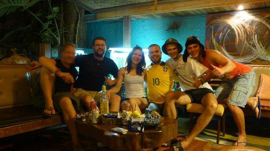 Pousada Casa Áurea Boutique : Our cashaca party after the Brazil - Croatia game