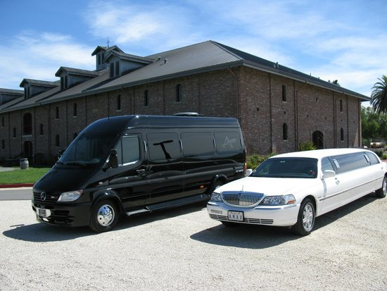 Passenger Bus And Passenger Stretch Limo Picture Of Amax - Mercedes benz limo bus