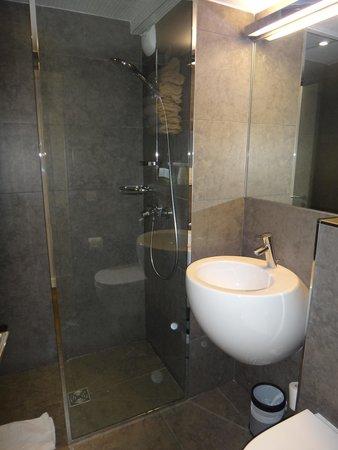 Hotel Alhambra: Bom banheiro para os padrões de Paris.